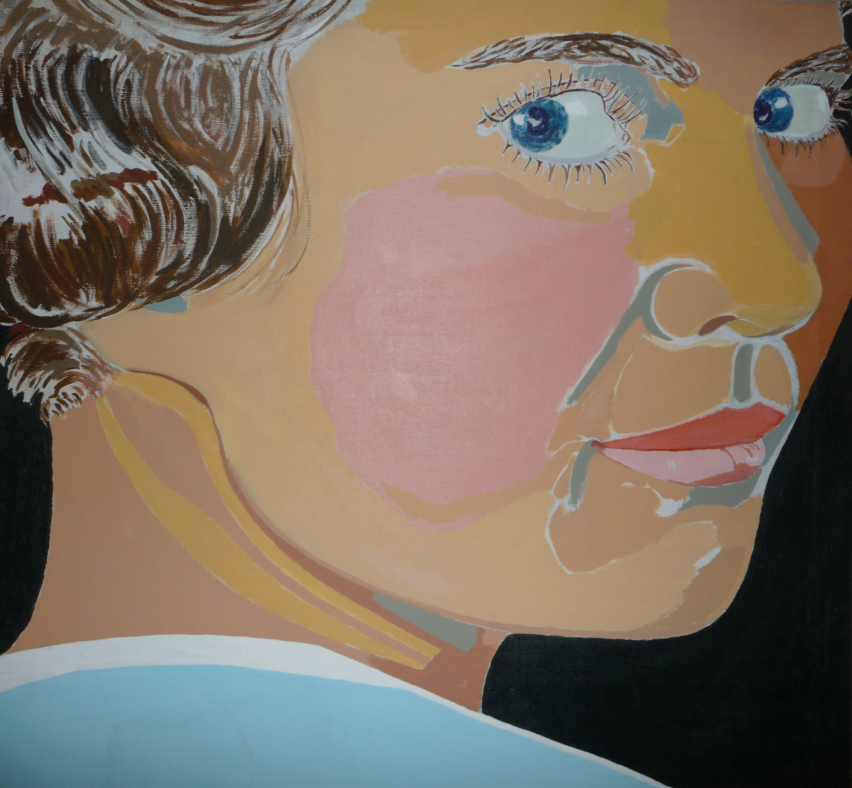 Slightly posturized painting Woman in '20s  by Karl Schonborn