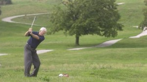 Older man on golf