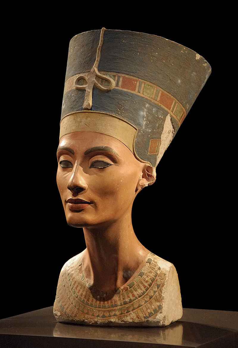 Famous bust of Queen Nefertiti  from Pharaoh period.