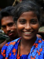 """Bangladeshi woman with a smile that defies """"lookism.""""."""