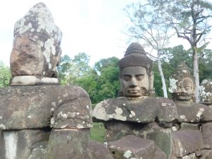 Angkor Thom, has giant faces, none with cleft lip or palate!