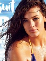 Lookism: Color picture of plus-sized model Ashley Graham on Sports Illustrated cover.