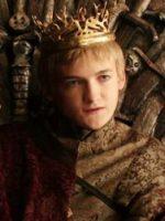 Bust shot of Joffrey Baratheon, villain from TV's Game of Thrones.