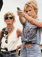 Medium shot of Thelma & Louise wirth guns.