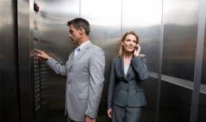 Male privilege and women in elevators.